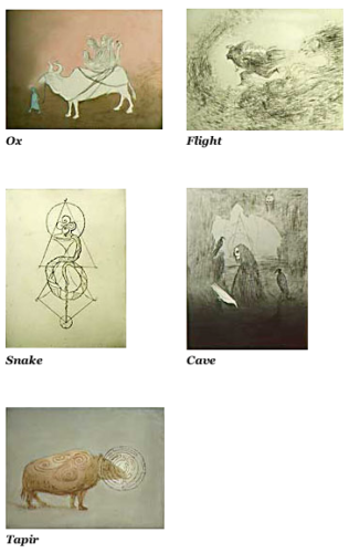 Beasts: Ox, Flight, Snake, Cave, Tapir by Leonora Carrington at