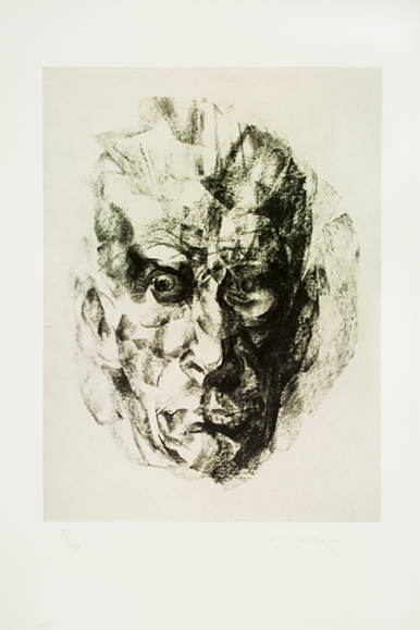 Image Of Samuel Beckett by Louis Le Brocquy