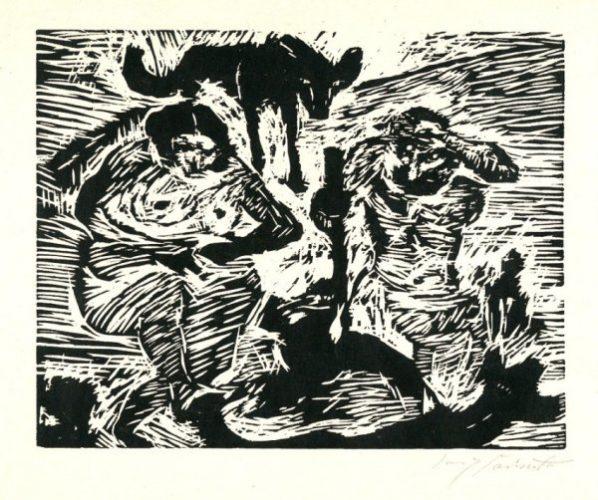 Im Schweiße Deines Angesichtes (adam And Eve) by Lovis Corinth