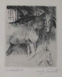 Pferdstall by Lovis Corinth at William Chambers Art