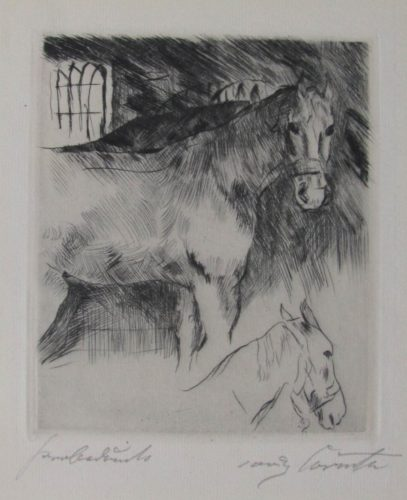 Pferdstall by Lovis Corinth at