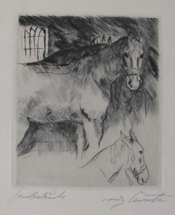 Pferdstall by Lovis Corinth