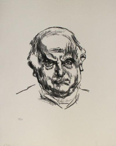 Selbstbildnis En Face by Ludwig Meidner