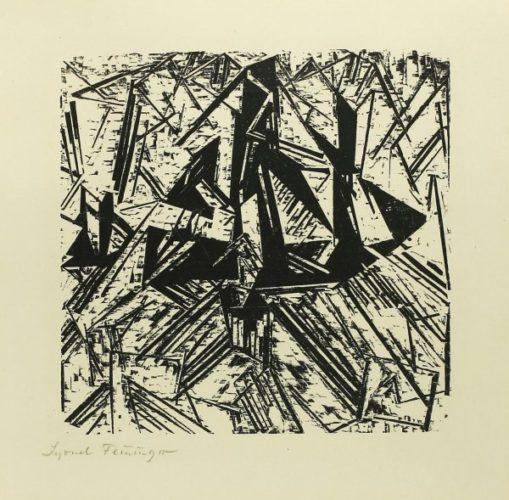 Barke Und Brigg Auf See (segler) by Lyonel Feininger