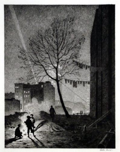 Tree, Manhattan by Martin Lewis at Harris Schrank Fine Prints (IFPDA)