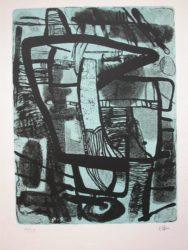 Grande Noir by Maurice Esteve at Gilden's Art Gallery (IFPDA)