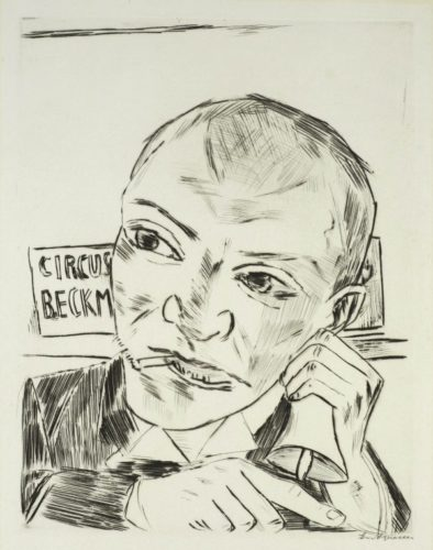 Der Ausrufer (Selbstbildnis)  (The Barker, Self-Portait) by Max Beckmann at