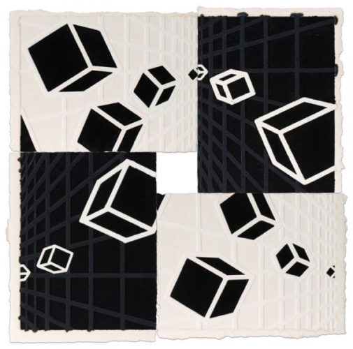 Genetic Space, Black And White #2 by Mel Bochner