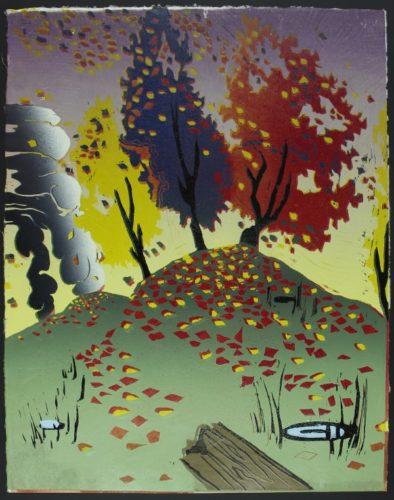 Leaf Mound by Melissa Brown