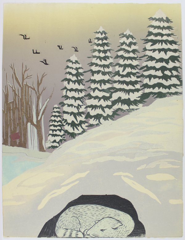 Winter Weasel by Melissa Brown