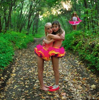 Xenia, Janna And Alona In The Woods, Russia by Michal Chelbin