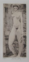 Young Girl Nude by Milton Avery at William Chambers Art