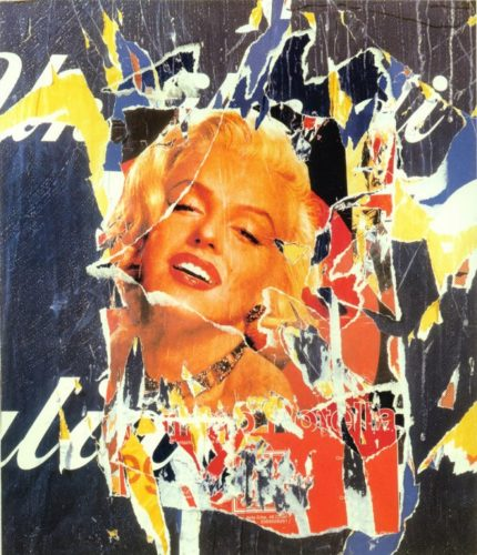 Omaggio A Marilyn Xl by Mimmo Rotella at