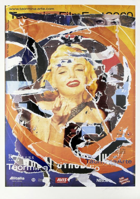 Omaggio A Marilyn Ii by Mimmo Rotella