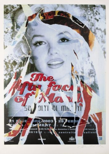 Omaggio A Marilyn Iv by Mimmo Rotella at