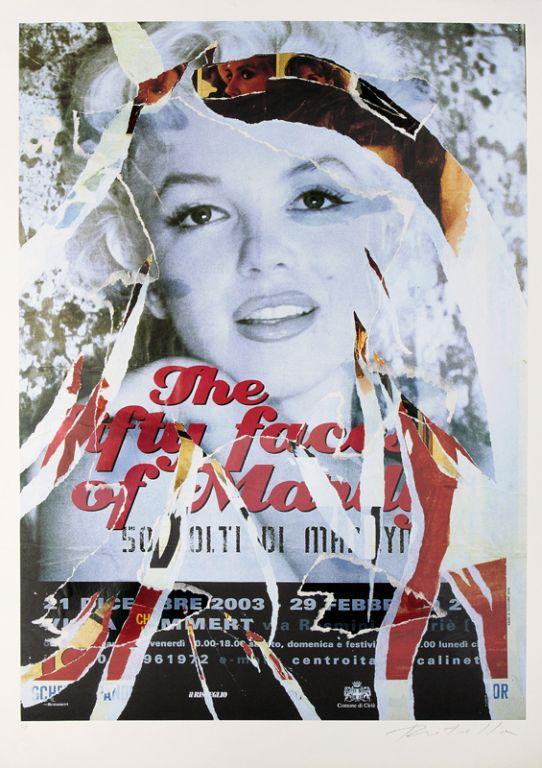 Omaggio A Marilyn Iv by Mimmo Rotella