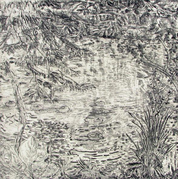 Pond's Edge I by Nancy Friese