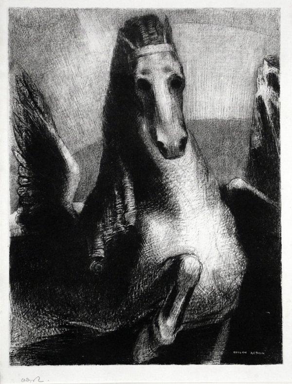 L'aile by Odilon Redon