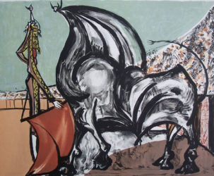 Homage To Manolete / Hommage A Manolete by Oscar Dominguez at Gilden's Art Gallery (IFPDA)