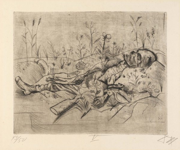 Toter Soldat (Dead Soldier) by Otto Dix at