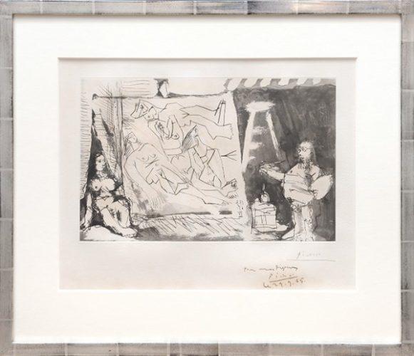 Dans L'atelier: Peintre Et Sa Toile Avec Un Modèle by Pablo Picasso