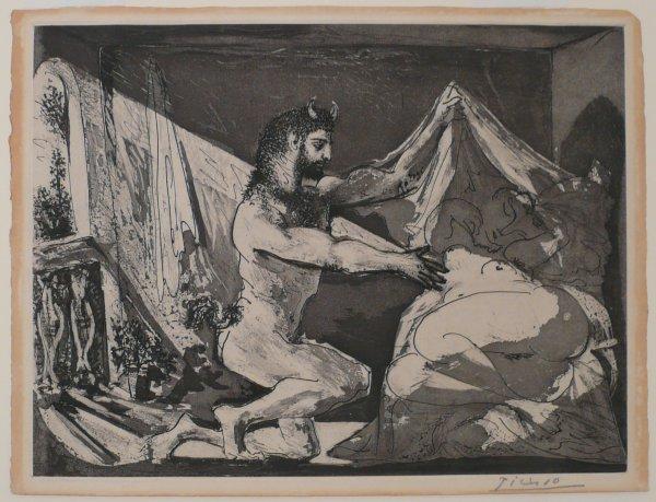 Faune Dévoilant Une Dormeuse by Pablo Picasso