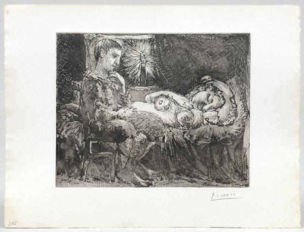 Garcon Et Dormeuse à La Chandelle. by Pablo Picasso at Pablo Picasso