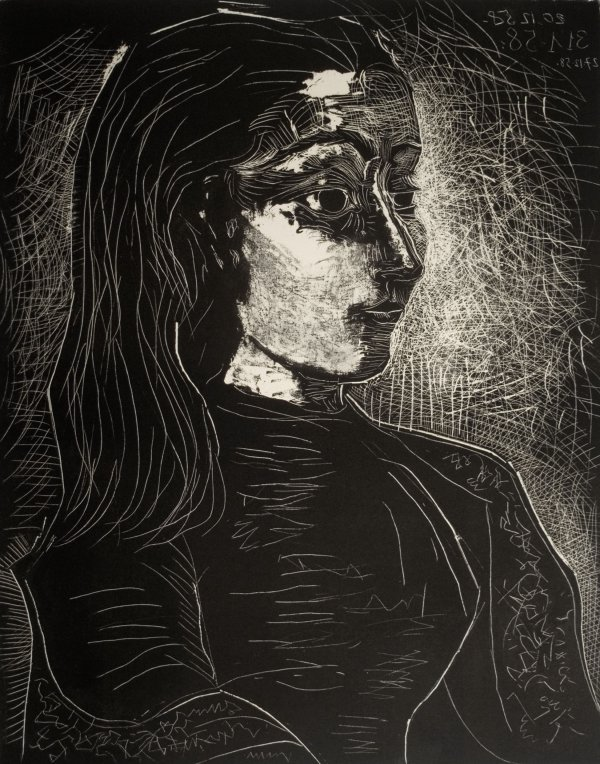 Jacqueline Seen From The Right by Pablo Picasso