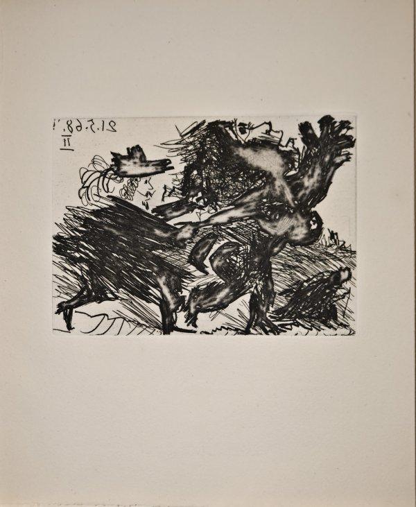 La Célestine. Fuite by Pablo Picasso