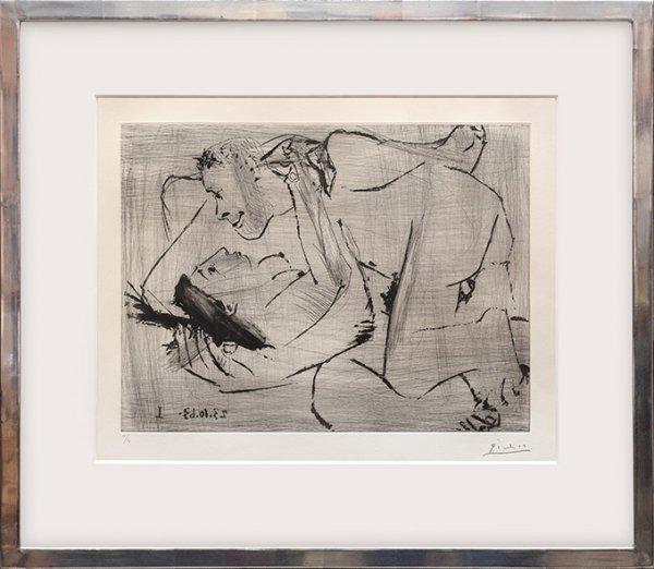 L'étreinte VI. by Pablo Picasso
