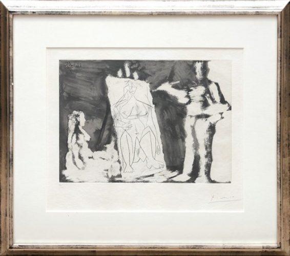 Peintre Et Sa Toile, Avec Un Modèle. by Pablo Picasso
