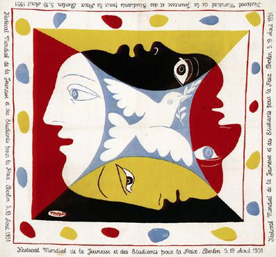 Scarf For The Global Festival Of Youth And Student by Pablo Picasso