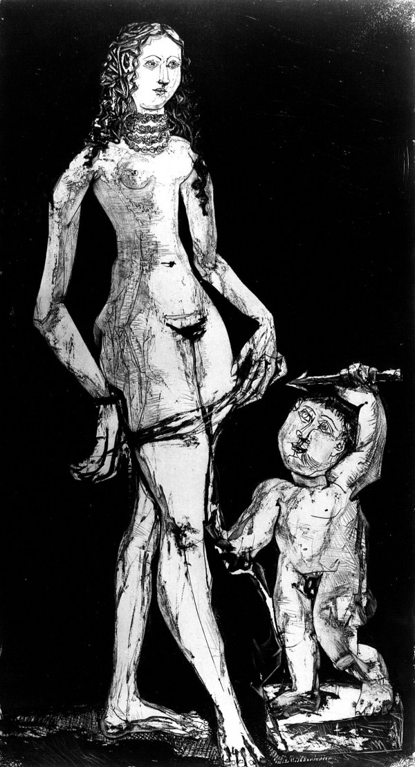 Venus And Amour, After Cranach by Pablo Picasso