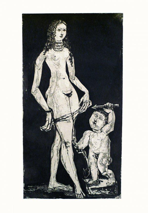 Venus Et L'amour by Pablo Picasso