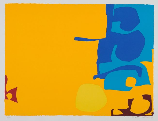 Blues Dovetailed In Yellow by Patrick Heron at