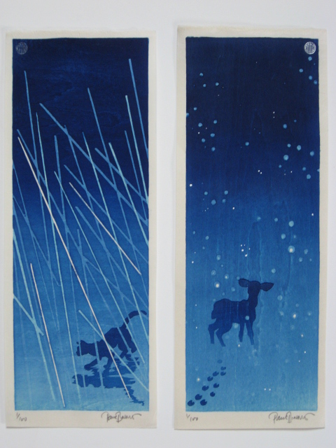 Ame Ni Neko / Cat In The Rain And Yuki Ni Shika / Deer In The Snow by Paul Binnie