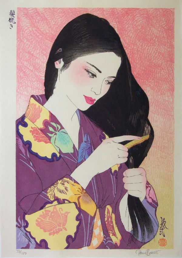 Hair Combing / Kamisuki by Paul Binnie