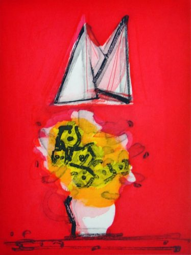 Flowers And Sails (red/yellow) by Paul Resika at VanDeb Editions
