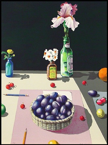Basket Of Plums by Paul Wonner at