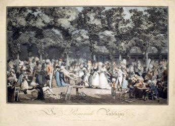 La Promenade Publique by Philibert-Louis Debucourt at R. S. Johnson Fine Art (IFPDA)