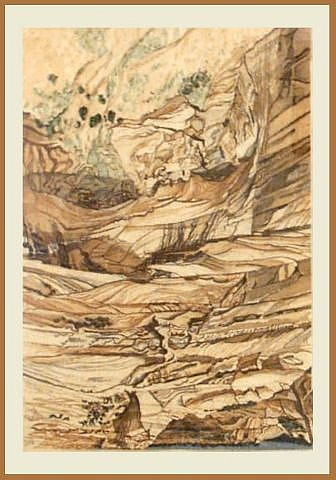 Mummy Cave Ruins At Canyon De Chelly by Philip Pearlstein at