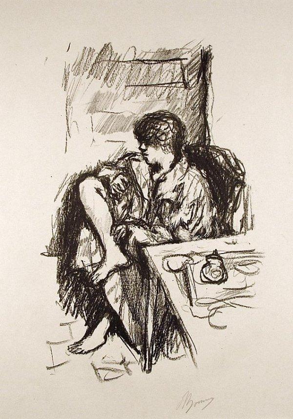 La Toillette Assise by Pierre Bonnard