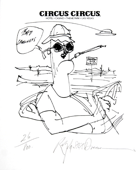 Barstow City Limits. by Ralph Steadman