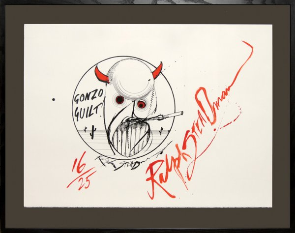 Gonzo Guilt! (Hunter S. Thompson.) by Ralph Steadman at Peter Harrington Gallery