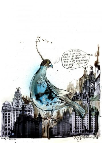 Liverpool Pigeon by Ralph Steadman