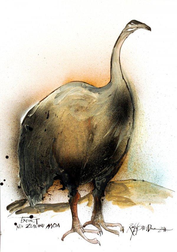 New Zealand Moa by Ralph Steadman