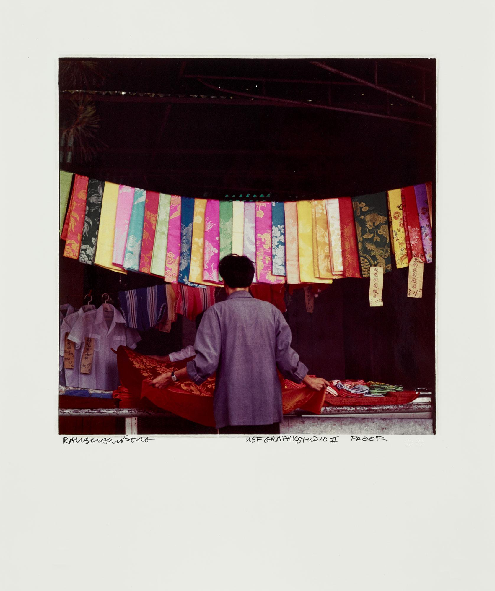 Hanging Silk by Robert Rauschenberg