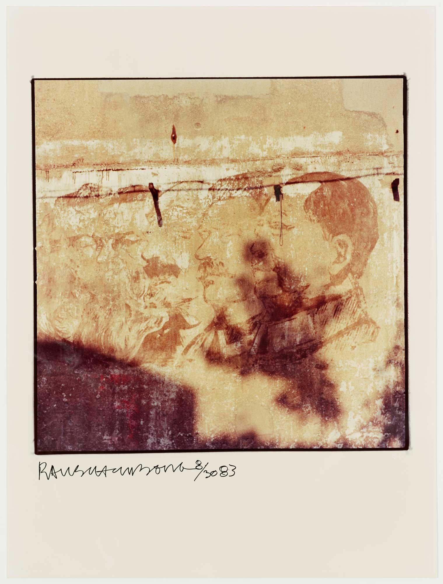 Profiles On Wall by Robert Rauschenberg
