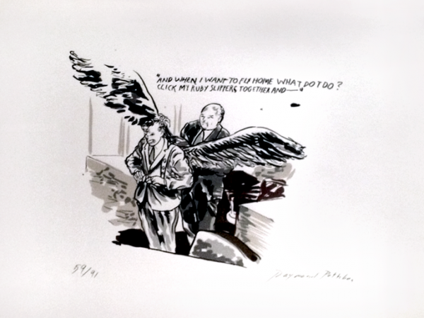 And When I Want To Fly Home What Do I Do by Raymond Pettibon