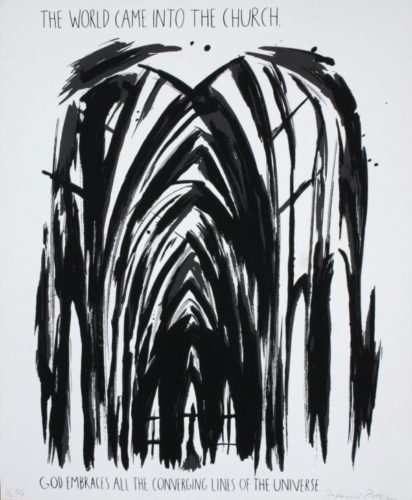 The World Came Into The Church by Raymond Pettibon